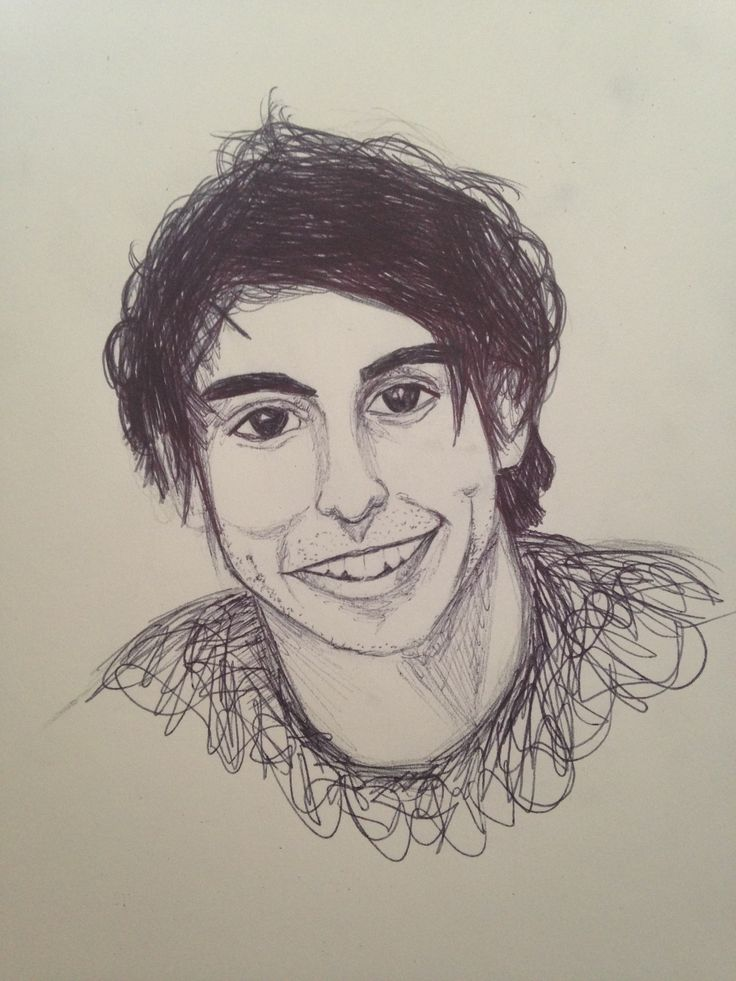 haven't posted in ages, take this smiley alex gaskarth pen sketch as a peace offering. by @maya876876