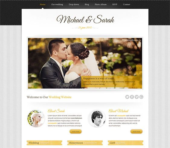 Find This Pin And More On 15 Of The Best Free Premium Wedding Website Templates