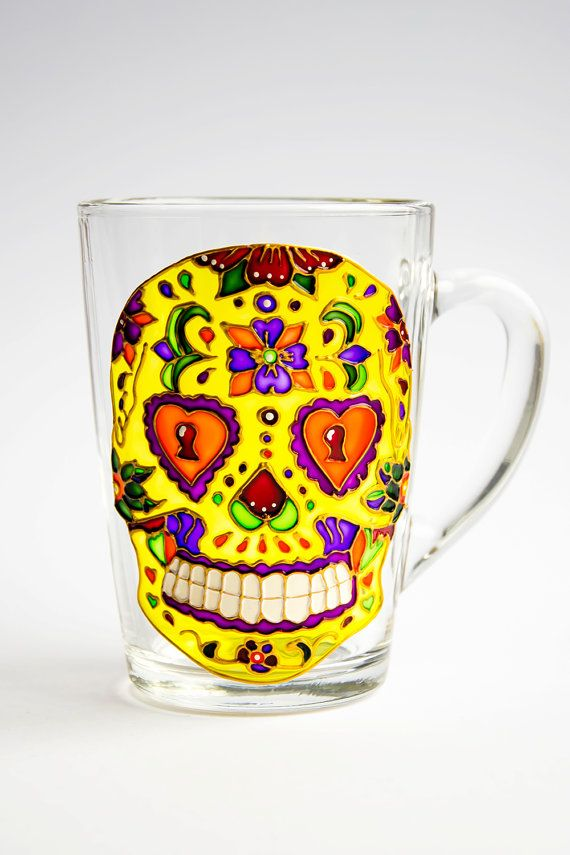 Hey, I found this really awesome Etsy listing at https://www.etsy.com/listing/224322054/day-of-the-dead-sugar-skull-mug-dia-de