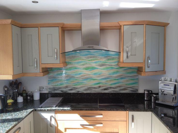 Küchenbilder glas ~ Best wave series glass splashbacks images