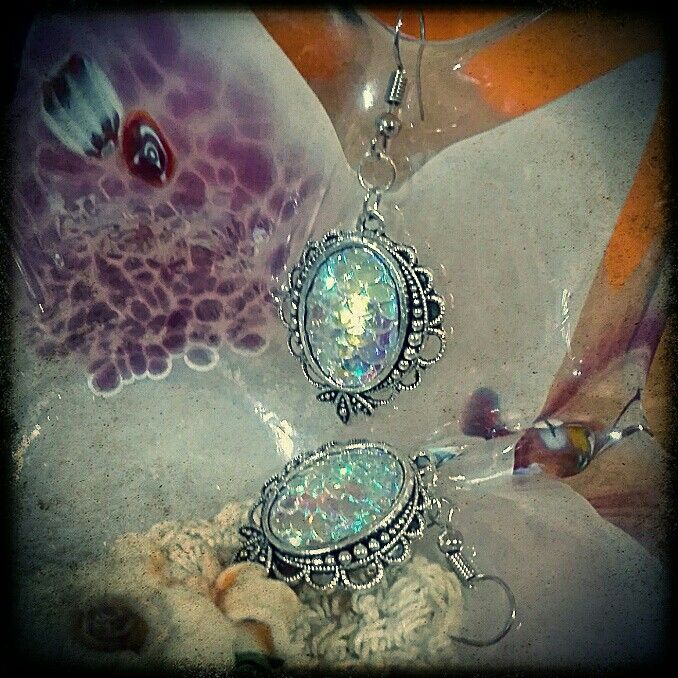 #artsberry #jewelry #diy #homemade #hobby #silver #mermaid #orecchini