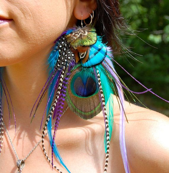 Hey, I found this really awesome Etsy listing at https://www.etsy.com/listing/154895885/pixie-song-peacock-feather-earrings