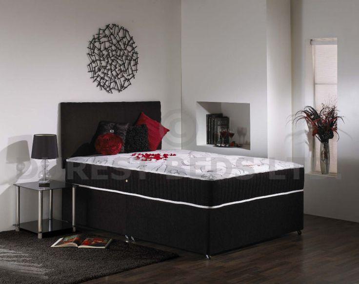 4ft6 Double Divan Bed Visco +10  Memory Foam Mattress B