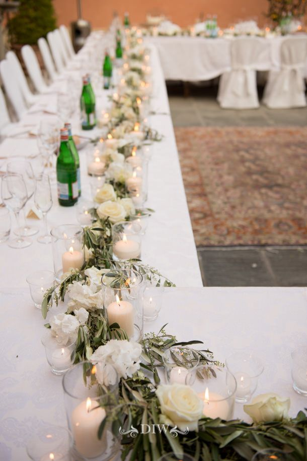 Wedding in Tuscany - tablescape - Distinctive Italy Weddings - photos by Mauro Pozzer florals by http://en.stiattifiori.it/