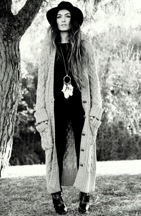 long cardigan vintage inspired boho style. so comfy!