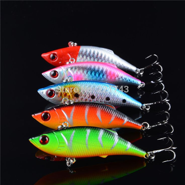 5 pcs lot winter fishing lures hard bait VIB with lead inside lead fish ice sea fishing tackle swivel jig wobbler lure 7cm/10g