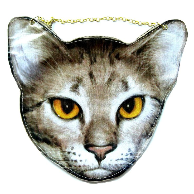 Cougar Lynx Cat Head Shaped Vinyl Animal Themed Cross Shoulder Bag | DOTOLY