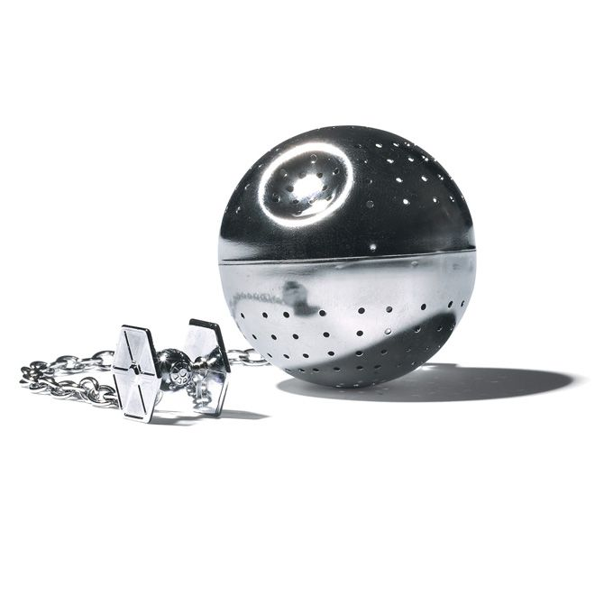 Death Star tea infuser. I want one of these, but I've heard they really don't work very well. Sadface.