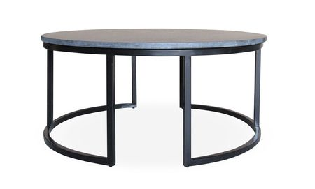 Dune Coffee Table With A 20mm Zim Black Granite Top