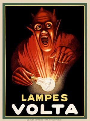Vintage Advertising Posters | Lights and lampes