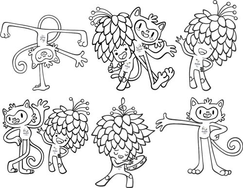 olympic mascots coloring pages - photo#36