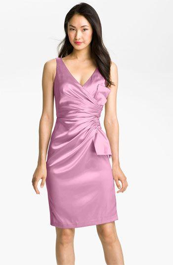 DELIGHTFUL! #Nordstromweddings    Maggy London Side Bow Stretch Satin Sheath Dress | Nordstrom