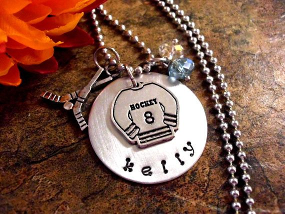 Hockey Jewelry Hockey Necklace Personalized Hockey by CharmAccents, $23.00