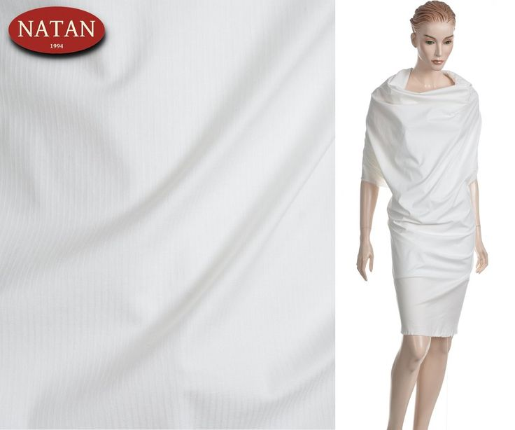 Tkanina batyst elastan bawełna -cotton biały
