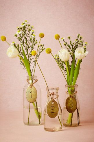 Antique Brass Tags. These would make a great addition to the #reception tables! #wedding