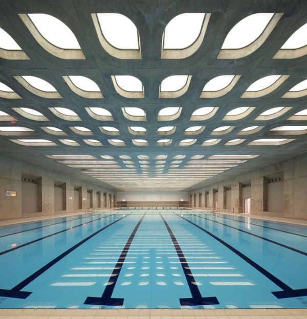 the training pool at zaha hadids london olympic aquatics center swimming poolslap poolsindoor