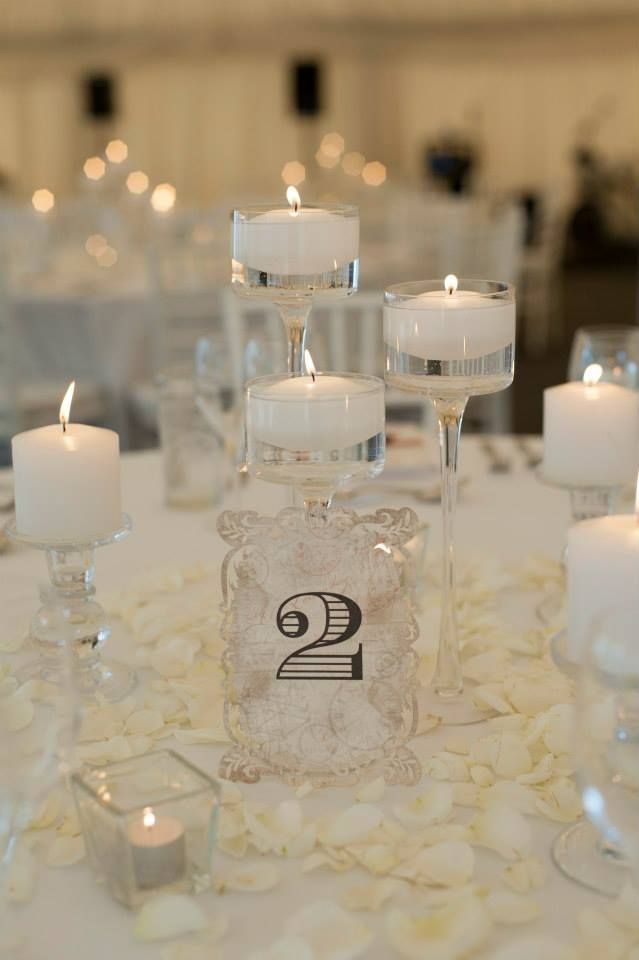 Queenstown Wedding Hire Tiered Floating Candle Holder Set, Glass Pillar Candle Holder, and Square Glass Tealight