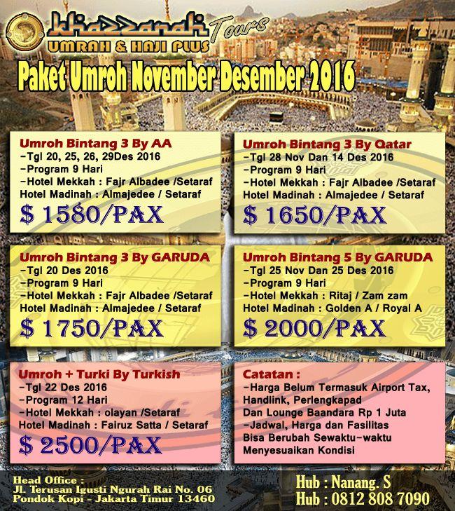Paket Umroh Desember 2016 Hemat