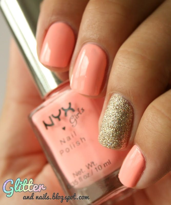 S-media-cache-ak0.pinimg.com/736x/5a -. Peach Nail ... - Peach Color Nail Designs Graham Reid