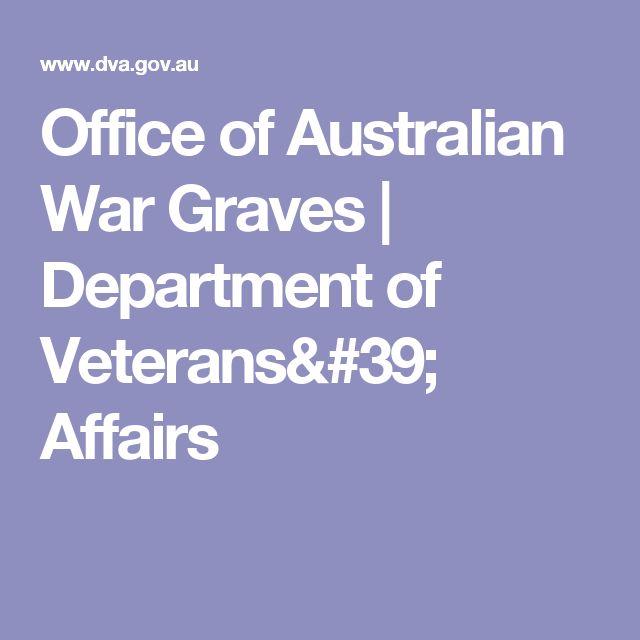 Office of Australian War Graves | Department of Veterans' Affairs