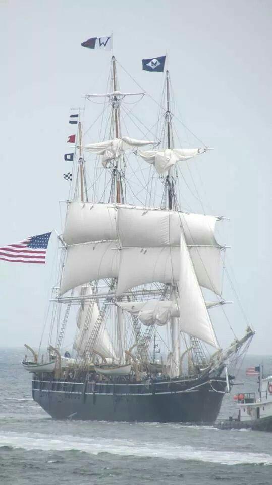 Charles W. Morgan in New Bedford Harbor 6-25-2014