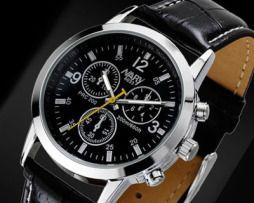 Luxusné pánske hodinky Nary v čiernej farbe