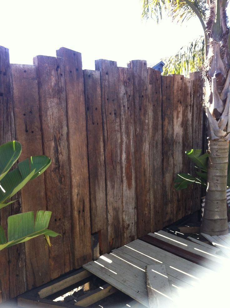 reclaimed timber fence ideas - Google Search