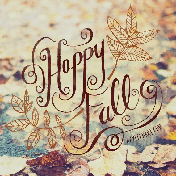 Happy Fall by WhimseyandWanderlust on Etsy, $12.50