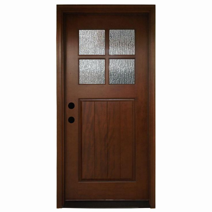 Mobile Home Cottage Door: Steves & Sons 36 In. X 80 In. Cottage 4 Lite Rain Stained