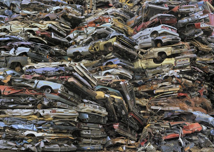 """Intolerable Beauty: Portraits of American Mass Consumption"", by photographer Chris Jordan shows the imprint of consumer waste in the US. The photo shows crushed cars In Tacoma, WA in 2004."