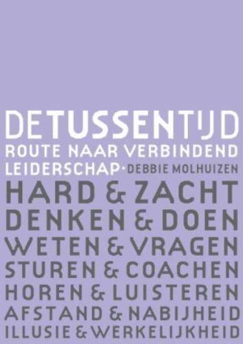 Dutch bookcover, author Debbie Molhuizen, about the in between