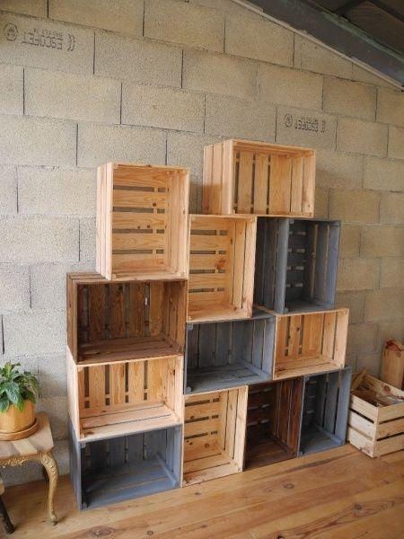 caisses en bois par peiot salons crates and cave. Black Bedroom Furniture Sets. Home Design Ideas