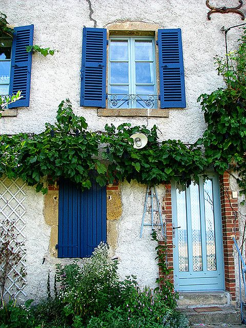 Auvergne   France This is the color I'm doing the trim work painting on my house.