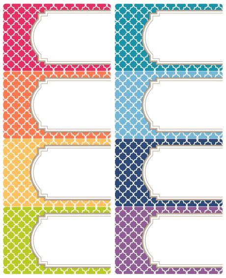 binder labels templates