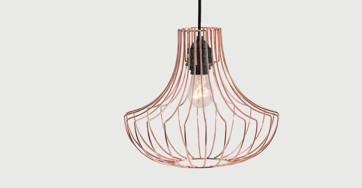 Coop Pendant Shade, Copper | made.com