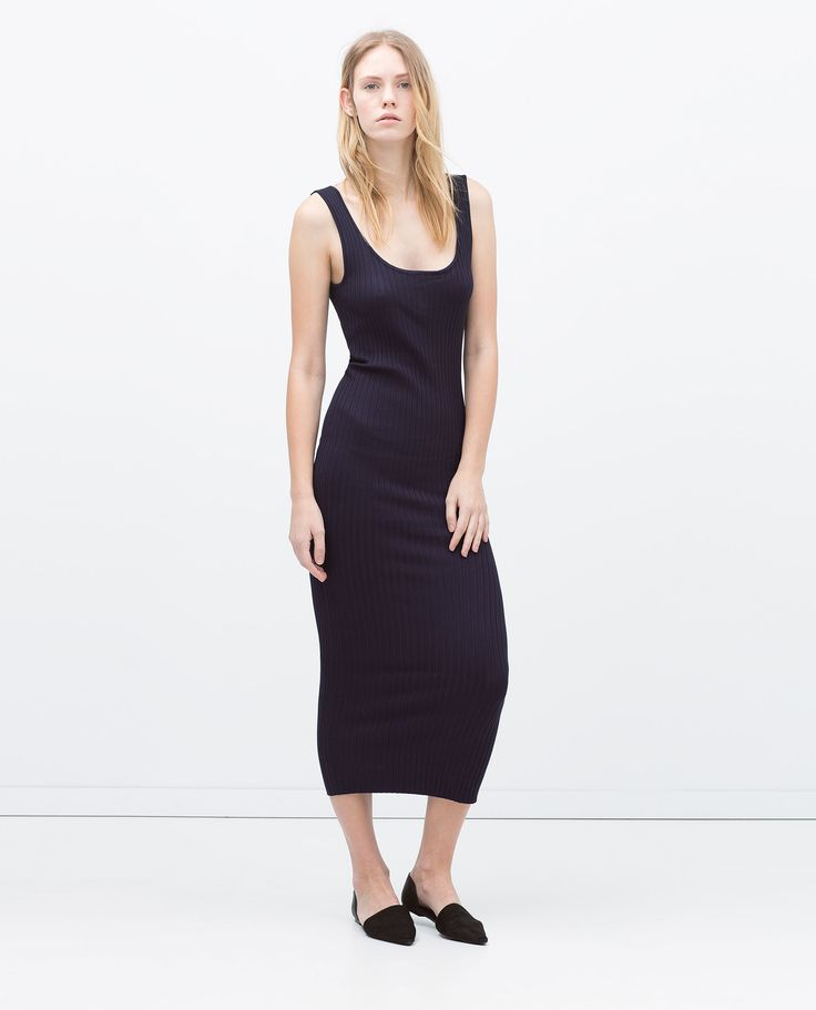 ZARA - WOMAN - LONG RIBBED DRESS