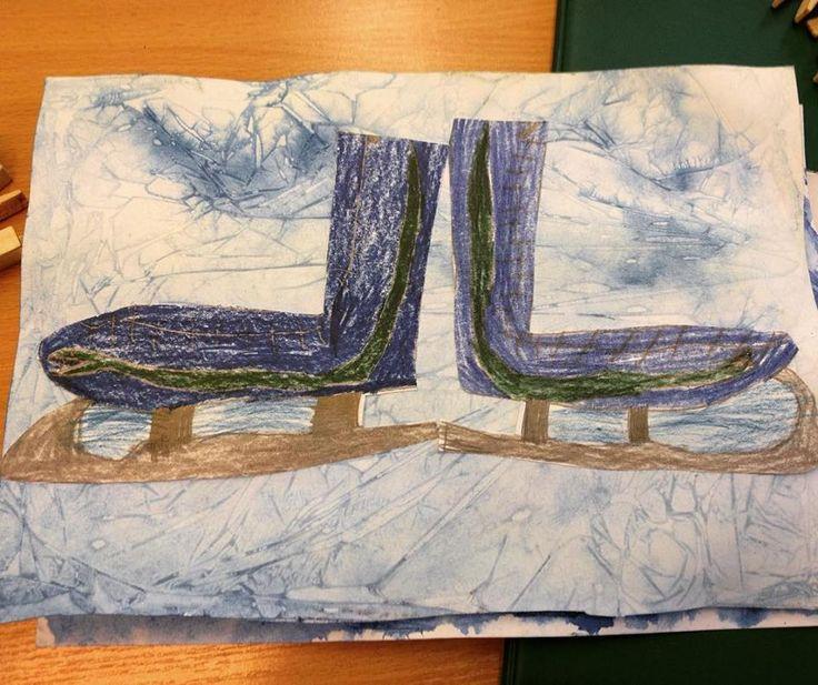 Brusle na ledě.  (2. třída ZŠ)