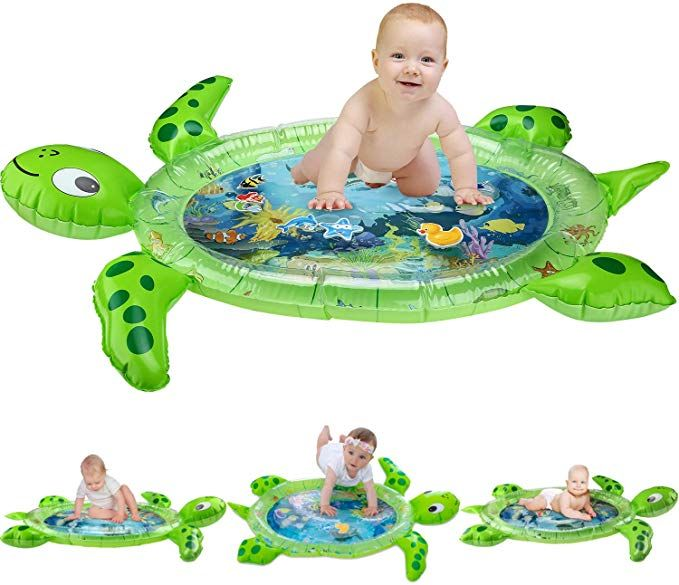 Amazon Com Gebra Inflatable Tummy Time Water Mat Sea Turtle Shape Infants Toddlers Play Mat Toy Fun Play Activity Tummy Time Toys Tummy Time Mat Tummy Time