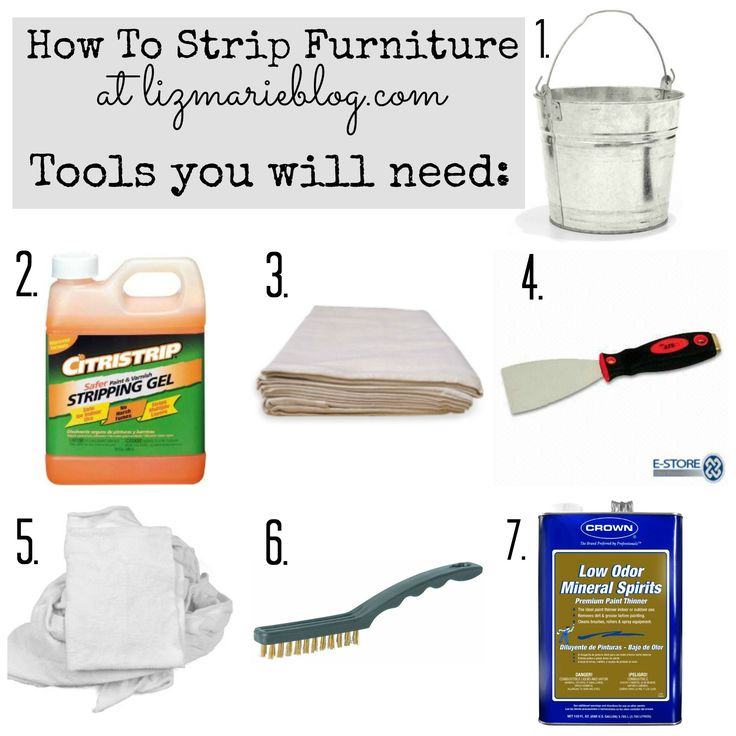 How to strip painted furniture. I've used the paint stripper she recommends. It does actually work well with no fumes.