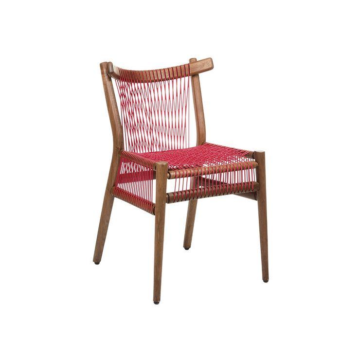 H Furniture   Loom Chair Walnut   Red