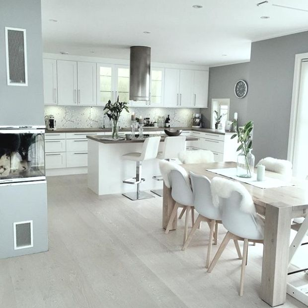 46 Most Popular Scandinavian Kitchen Ideas 43 Justaddblog Com 46 Most Popular Scandi Open Plan Kitchen Living Room Home Decor Kitchen Kitchen Dining Living