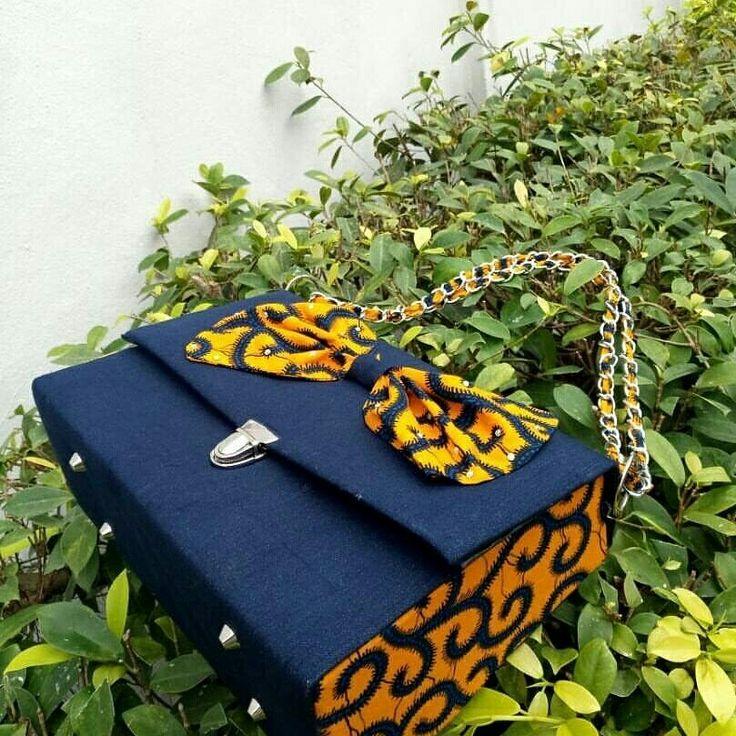 Ankara Box bag... Email modabellabyfj@gmail.com to get this bag!