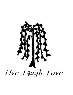 Free Printout! Willow tree with Live Laugh Love