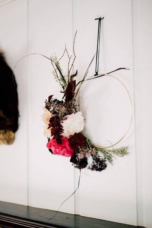 floral wreath!