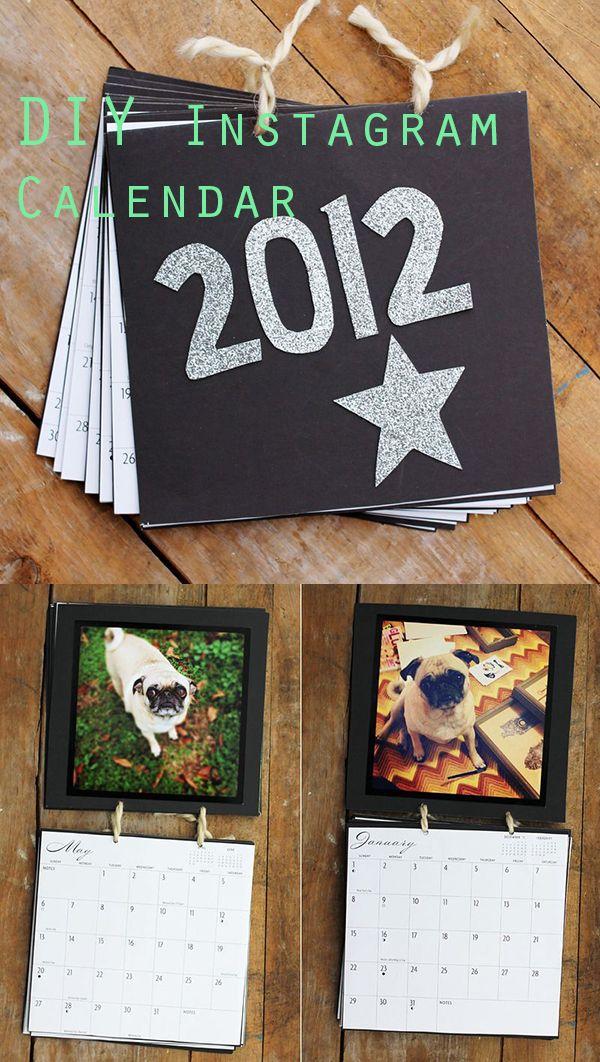 DIY Instagram Calendar. Great gift idea!
