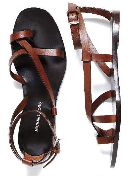Michael Kors flat sandals.