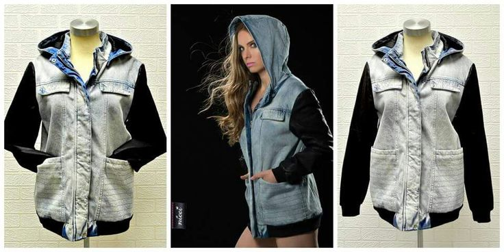 Gorgeous denim and vegan leather bomber now available at #NicciBoutiques #KeepSake