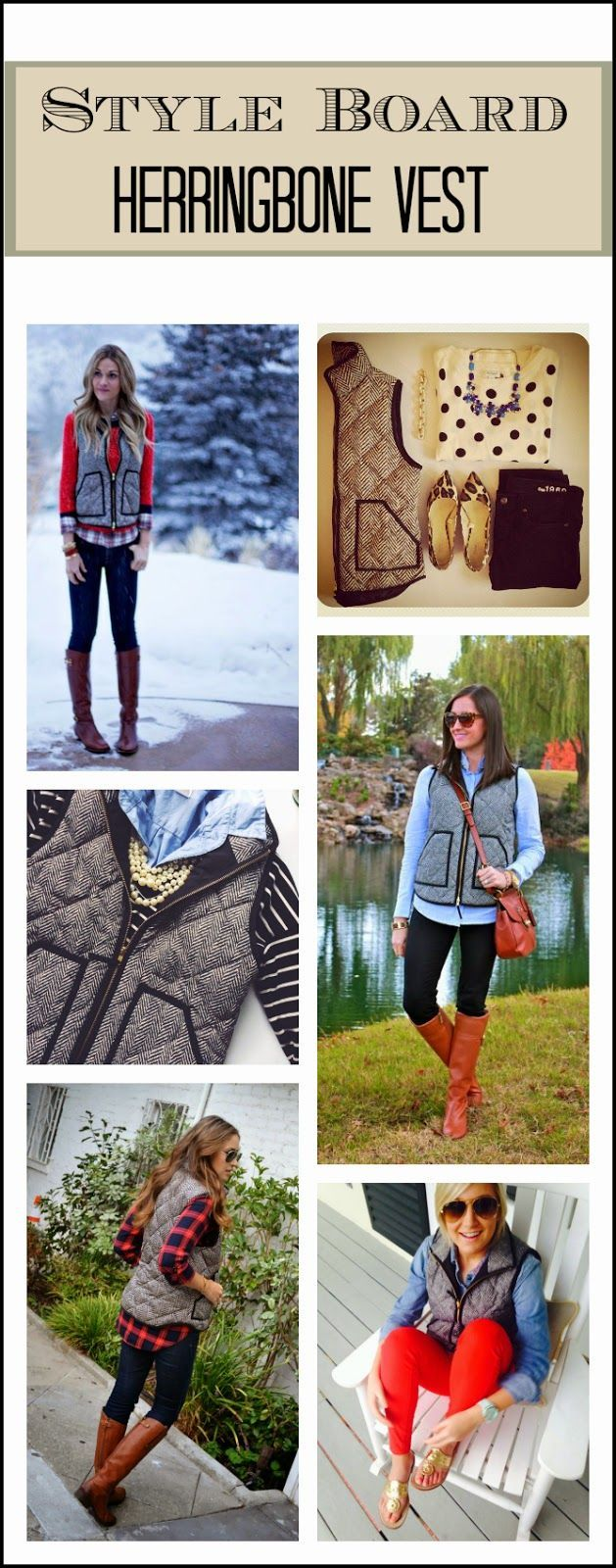 Style Board: Herringbone Vest Edition (via Bloglovin.com )