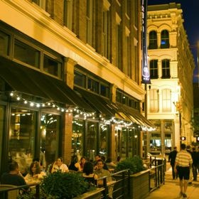 Located In The Heart Of Downtown Cleveland Warehouse District Is Lined With Trendy Restaurants And Clubs As Well Interesting Red Buildings