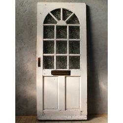 イギリス アンティーク ガラス入り木製ドア 扉 ディスプレイ 建具 5990